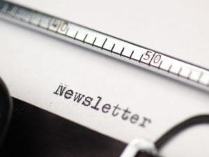 Newsletter-on-typewriter